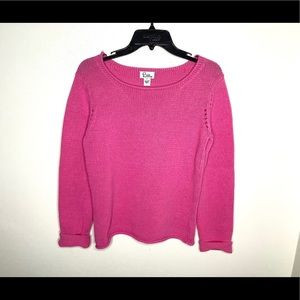 < Lily Pulitzer Pink Sweater Small >